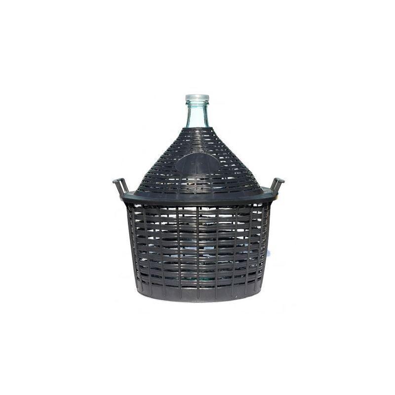 bouteille bonbonne 15litres avec panier en plastique bouteilles et. Black Bedroom Furniture Sets. Home Design Ideas