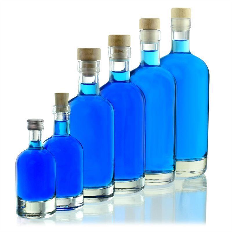 100ml botella de vidrio transparente linea uno - Vidrio plastico transparente precio ...