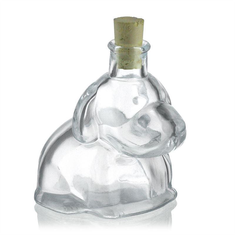 200ml bouteille en verre clair chien bouteilles et. Black Bedroom Furniture Sets. Home Design Ideas