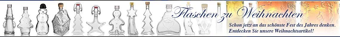 Banner Flaschen zu Weihnachten
