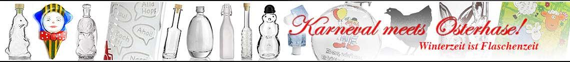 Banner Flaschen Winter und Karneval