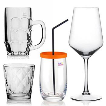 Gläser, Krüge, Tassen