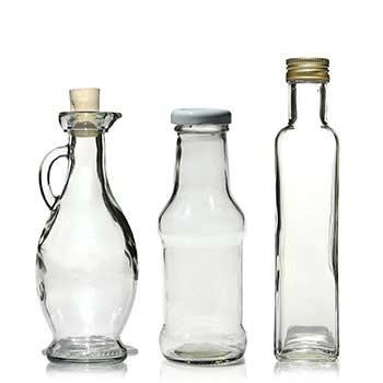 250ml bottiglie di vetro