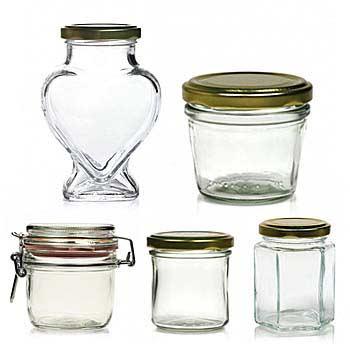 Marmeladengläser und Einmachgläser