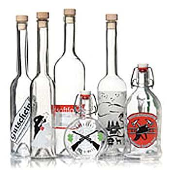 Bedrukte flessen