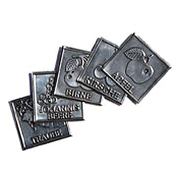 Metalletiketten