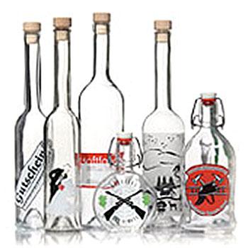 Botellas estampadas
